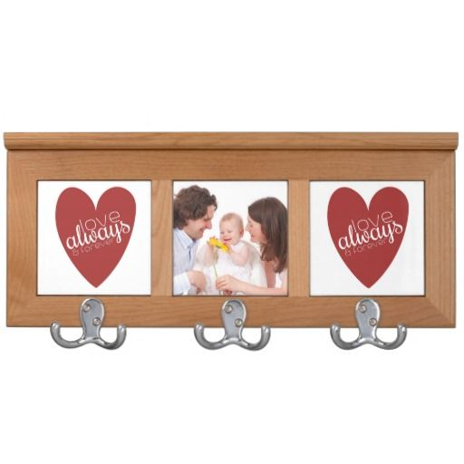 Love Always and Forever Red Heart Coat Rack Coat Rack
