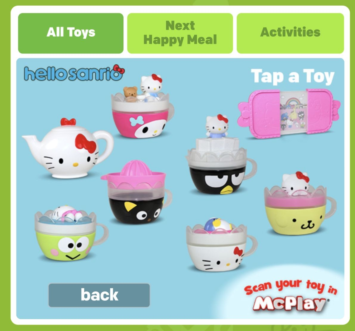 MCDONALDS 2018 HELLO KITTY COMPLETE SET OF 8 TOYS SHIPPING NOW!! ALL NIP!
