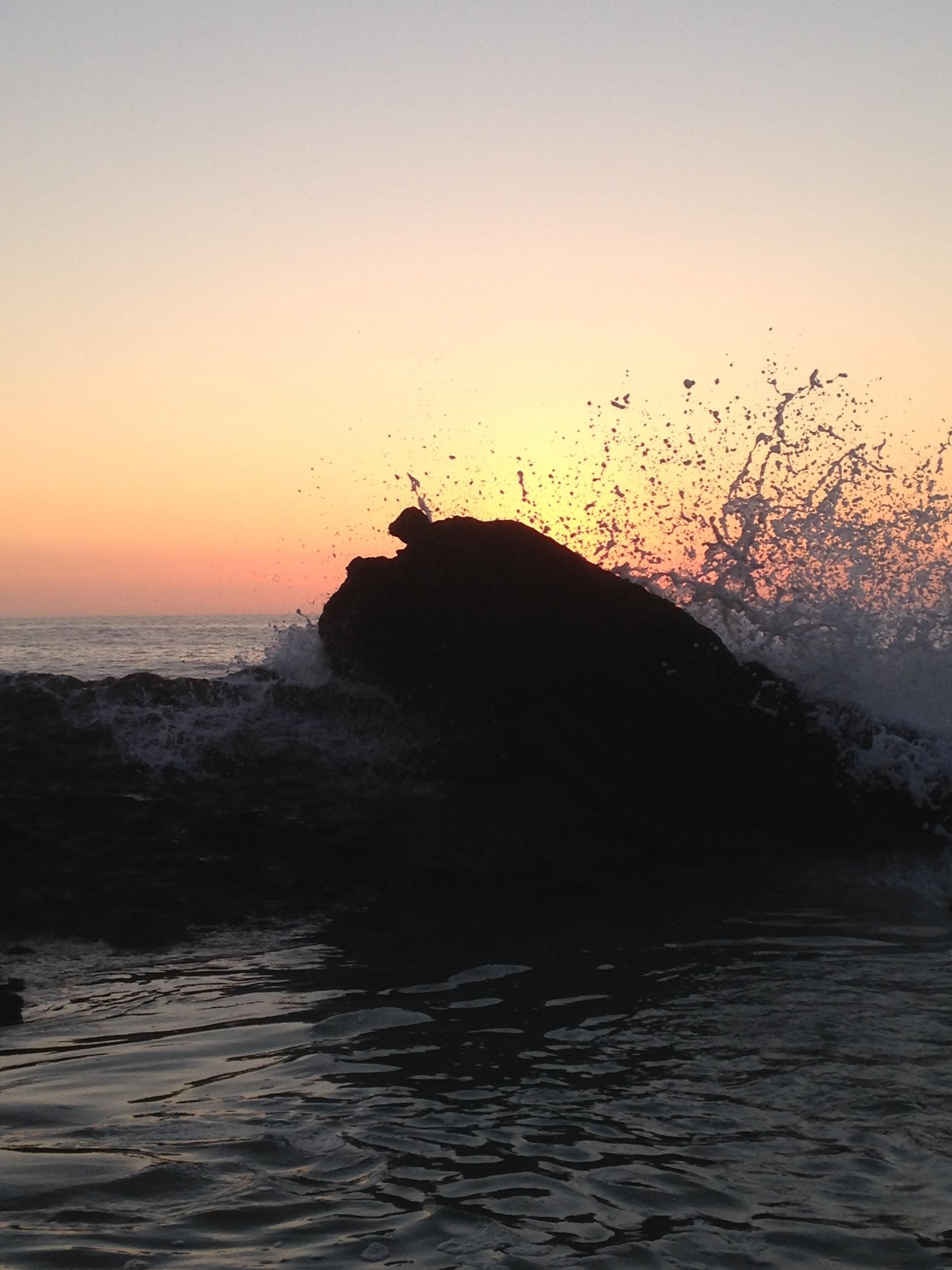 Waves crashing at the natural tide pools in Laguna Beach CA. [OC][2448x3264]