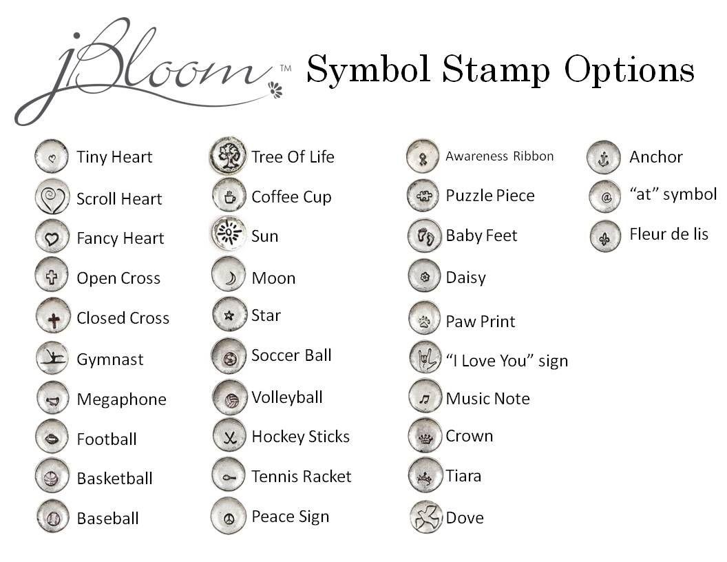 Myjbloommarshahernandez Hand Stamp Symbols Jbloom