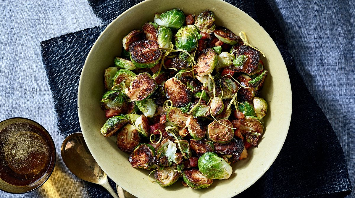 Crispy Brussels Sprouts With Pancetta And Lemon Recipe In 2019