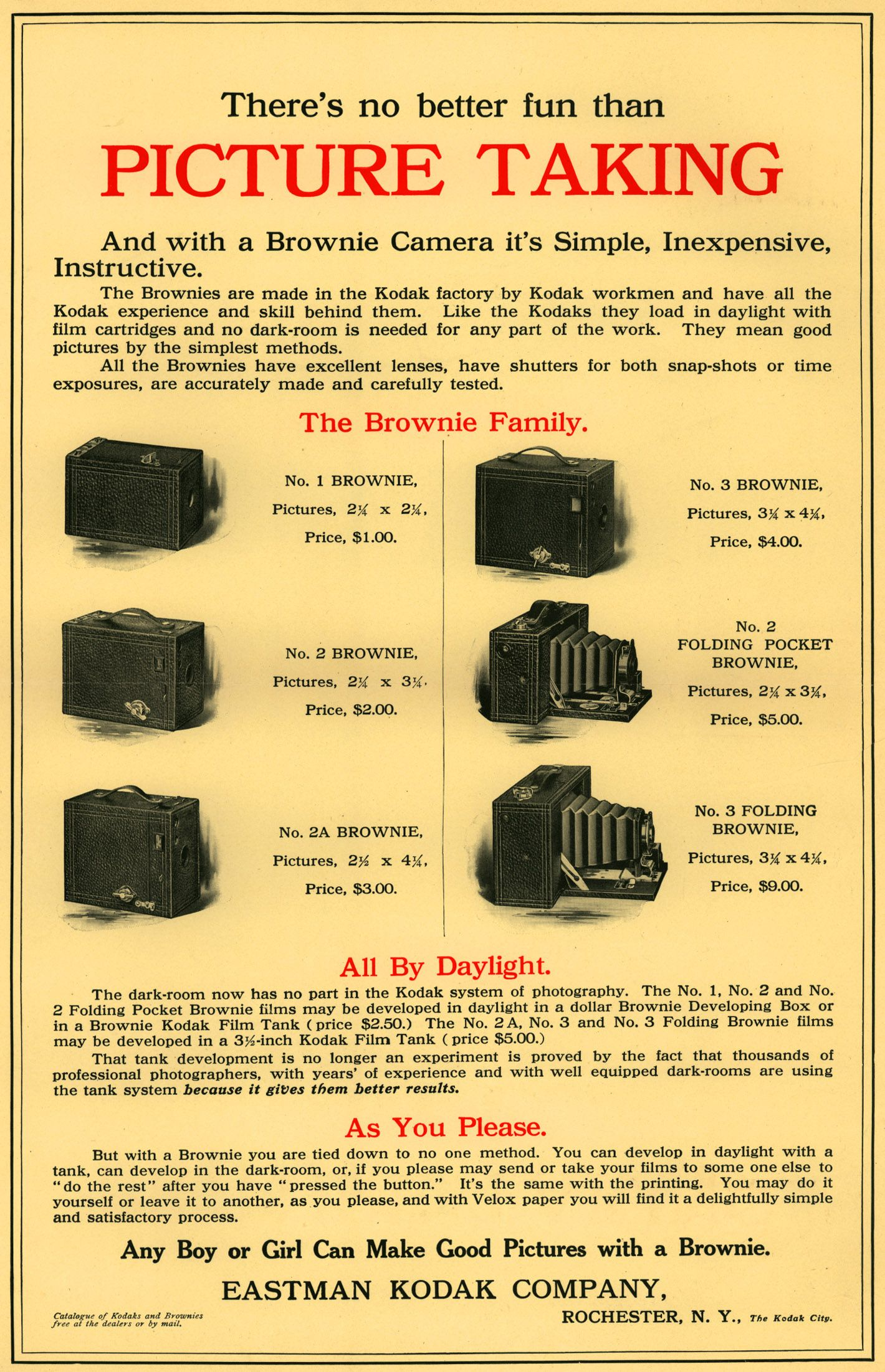 1909 youths companion magazine advertisement for kodak brownie 1909 youths companion magazine advertisement for kodak brownie cameras malvernweather Image collections