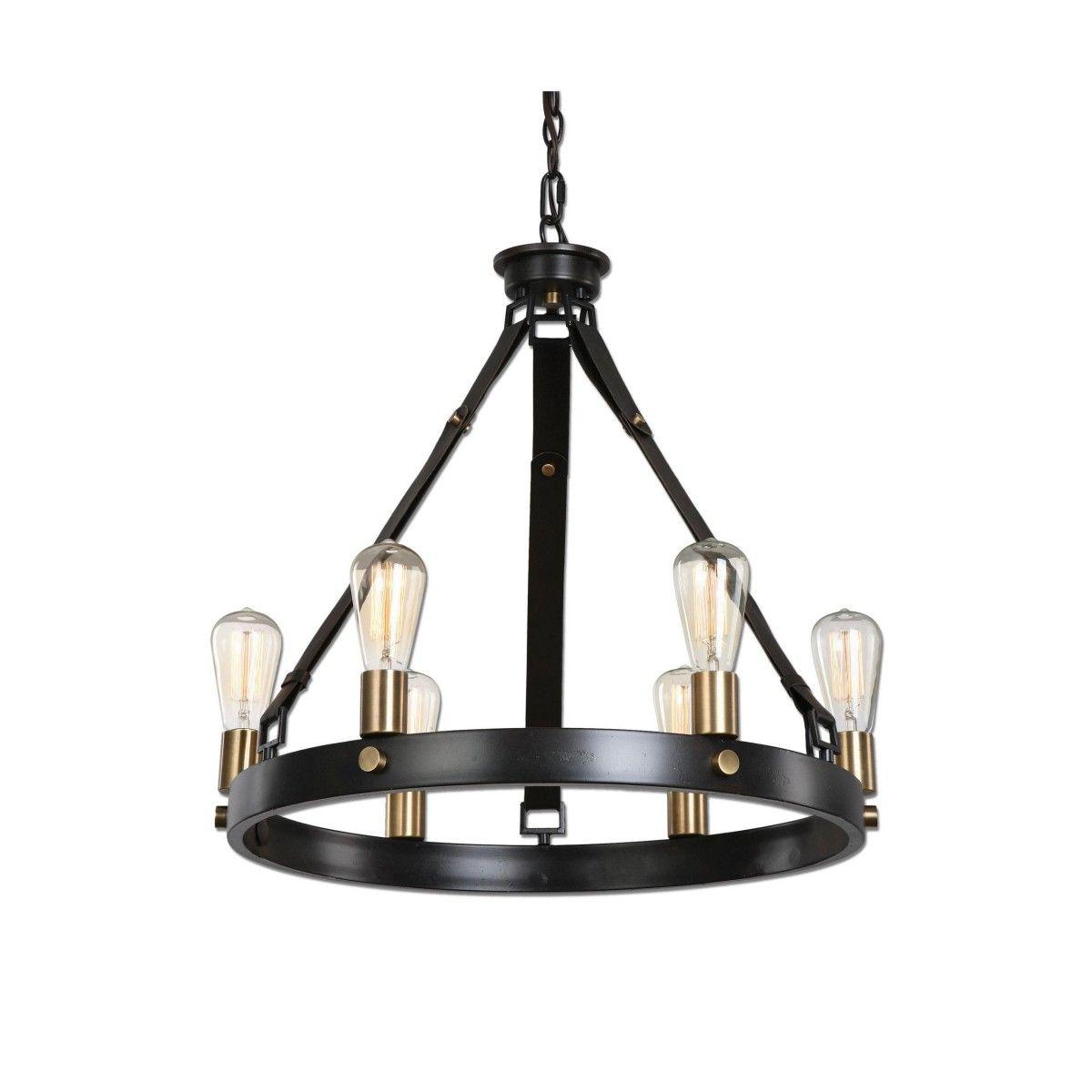 Uttermost marlowe industrial style chandelier montreal lighting uttermost marlowe industrial style chandelier montreal lighting hardware mozeypictures Gallery