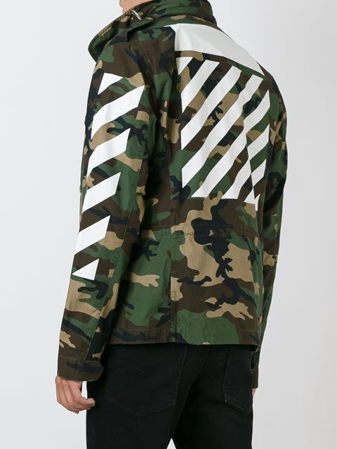 00ea3b0a12342 Off-White camouflage print utility jacket   服装设计 in 2019 ...