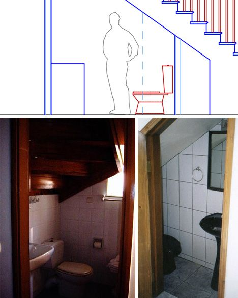 Lighting Basement Washroom Stairs: Under Stair Bathroom Plan