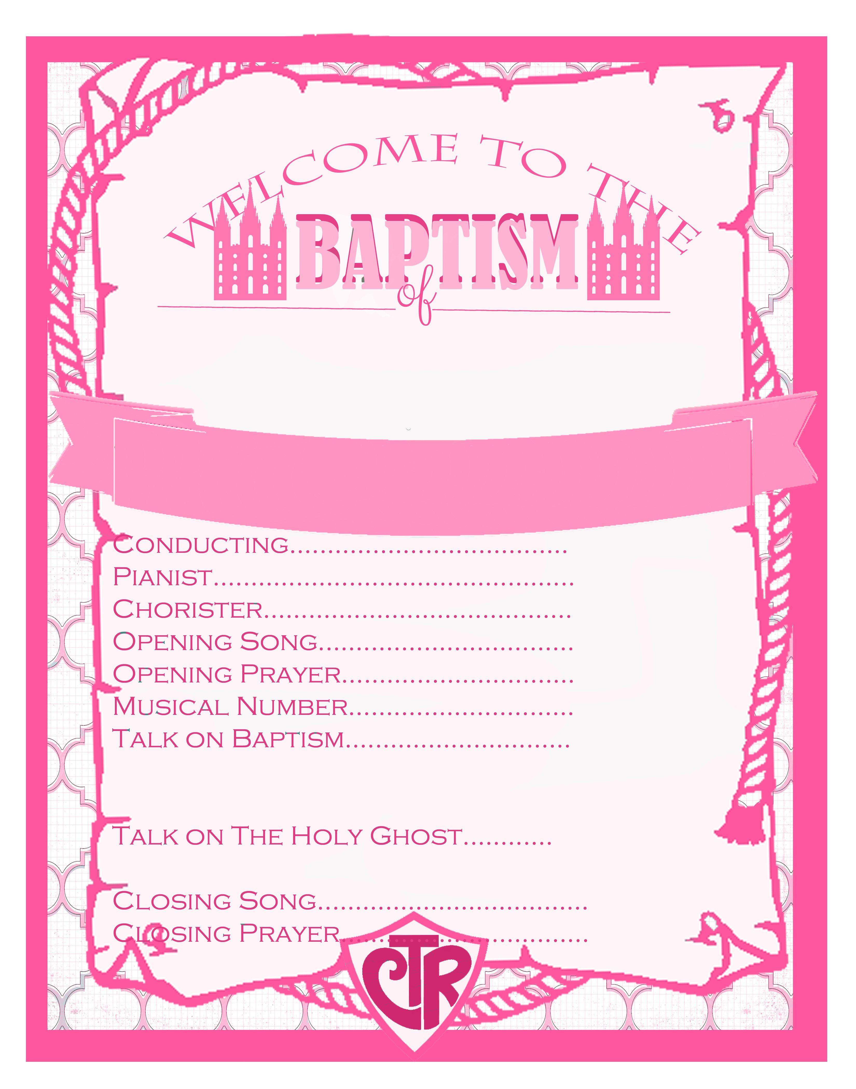 Free LDS Baptism Program Template & the fonts to personalize it in ...