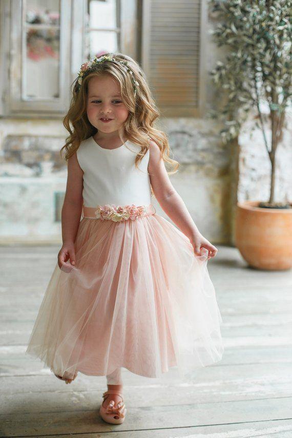 Photo of Flower girl dress, Blush flower girl dress, Flower girl dress tulle, Wedding girl dress