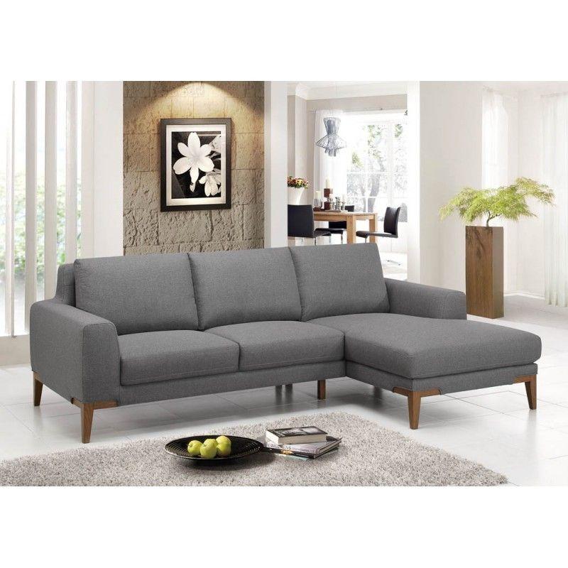 Canapé d angle c´té Droit design 3 places avec méri nne SERGIO