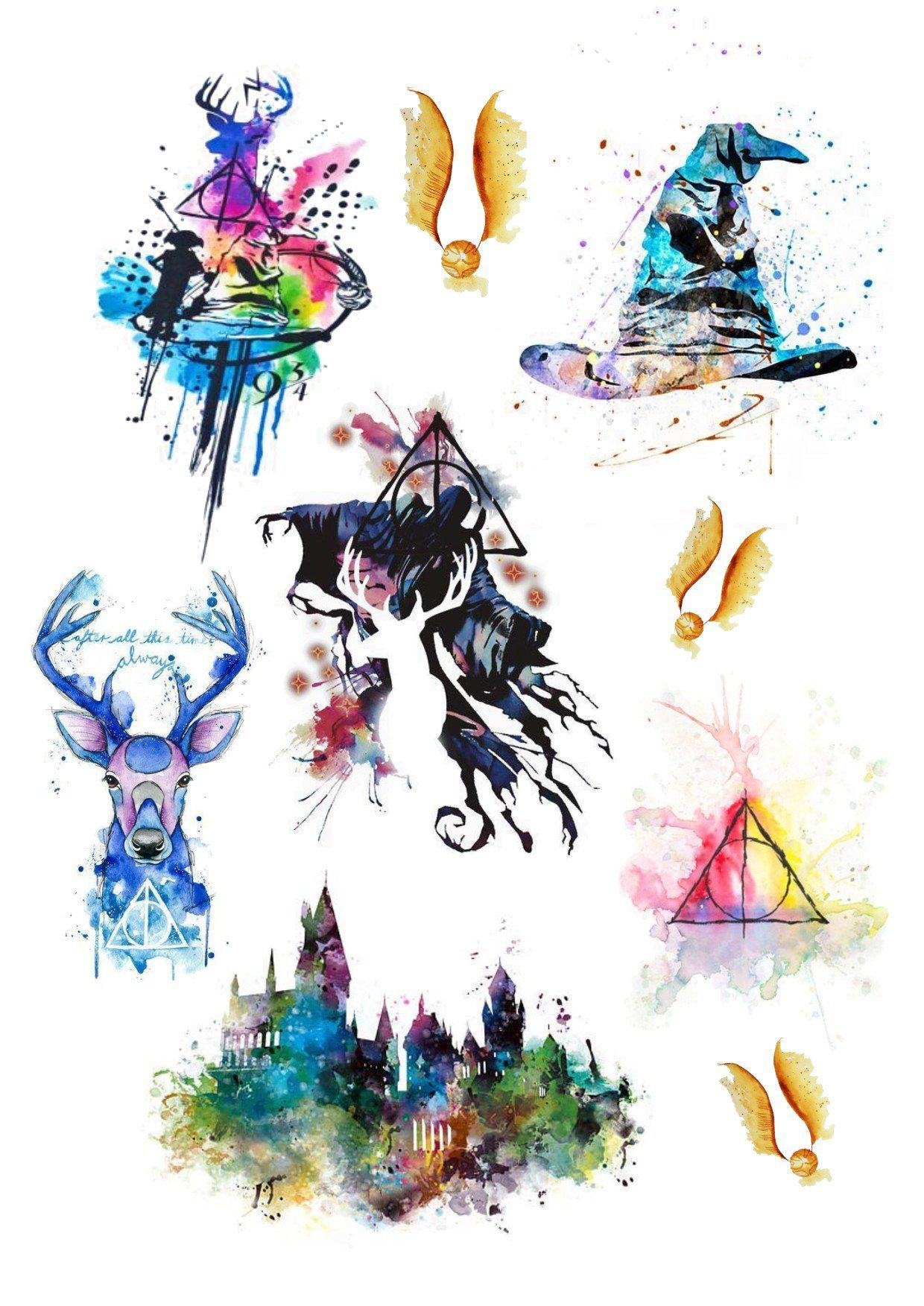 Harry Potter Watercolor Harry Potter Painting Harry Potter