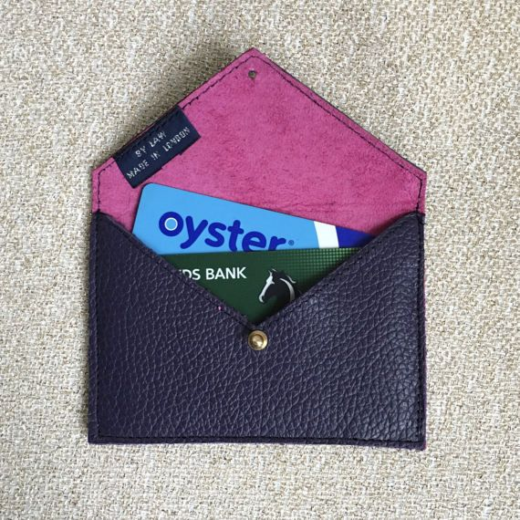 Leather Card Holder Slim Wallet Business Card by ByLawLondon