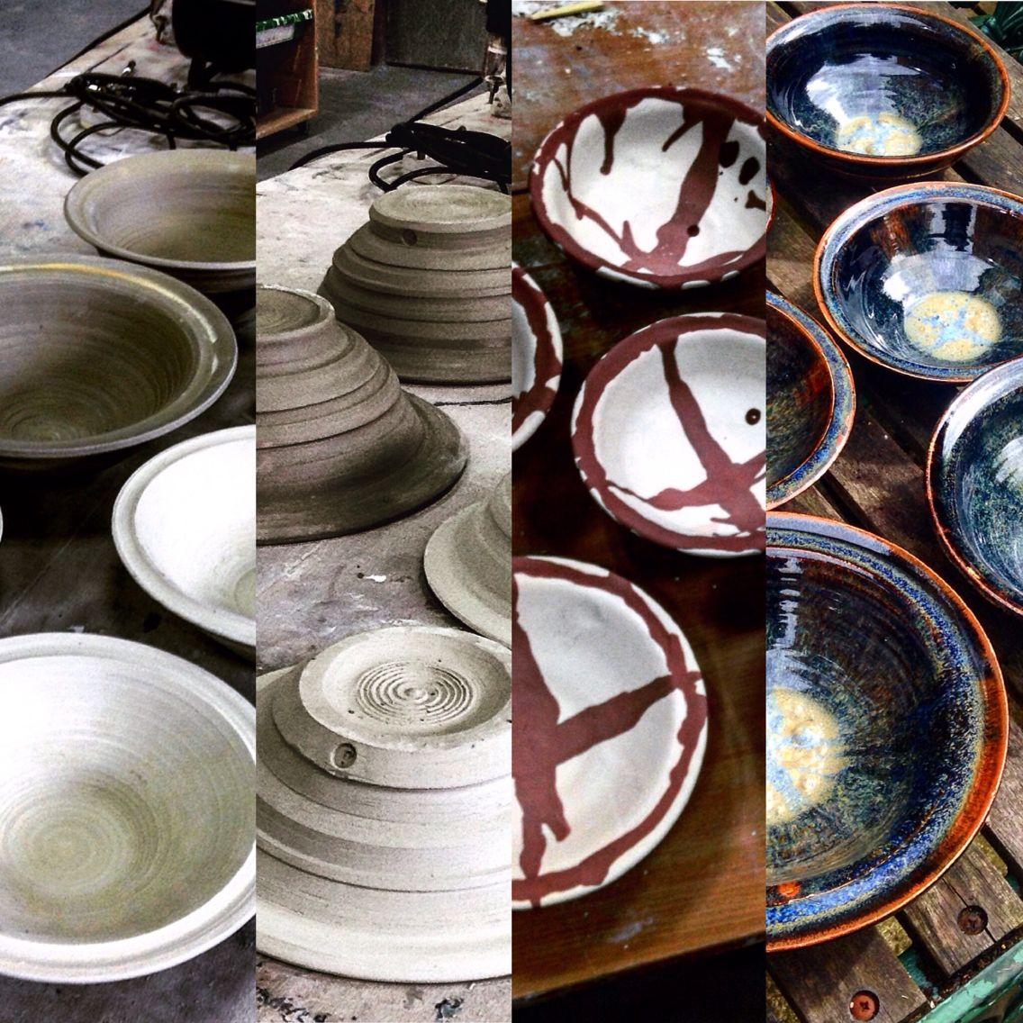 Stone wear bowls in process - Joshua Charles