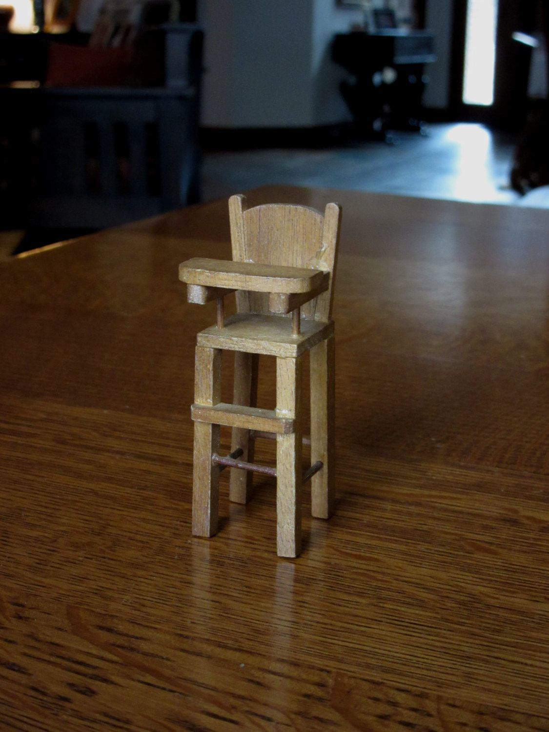 Other Dollhouse Miniatures Dolls & Bears Miniature Doll House Baby Highchair Children High Chair Sterling Silver