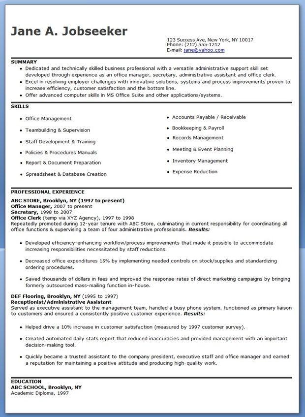 Office Manager Resume Samples Resume Downloads Office Manager Resume Manager Resume Download Resume