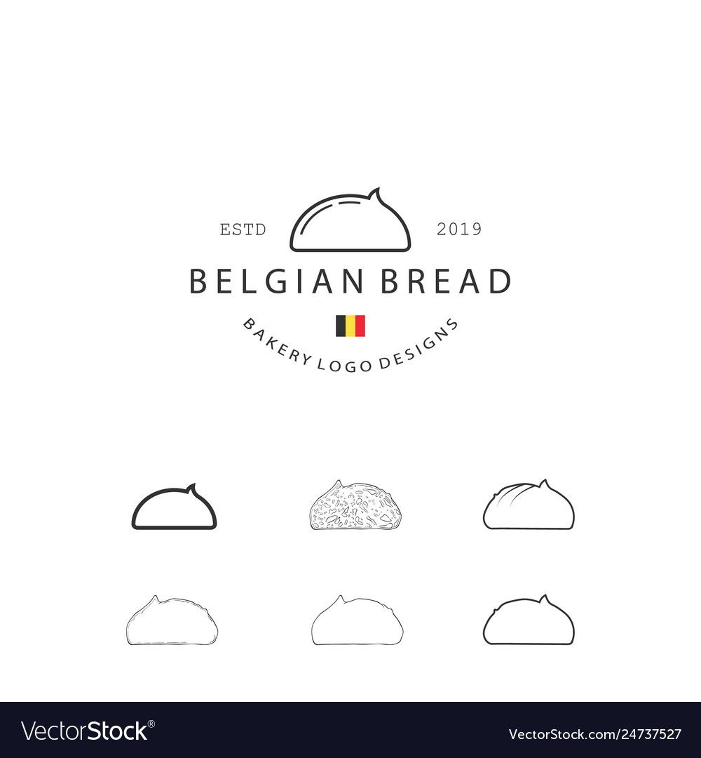 Set bakery pastry elements and bread icons can Vector Image ,