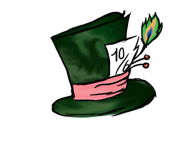 Mad Hatters Hat By H Nnaa On Deviantart Mad Hatter Top Hat Mad Hatter Disney Mad Hatter Hat