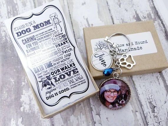 Personalized Pet Keychain With Poem Gift Box Custom Pet