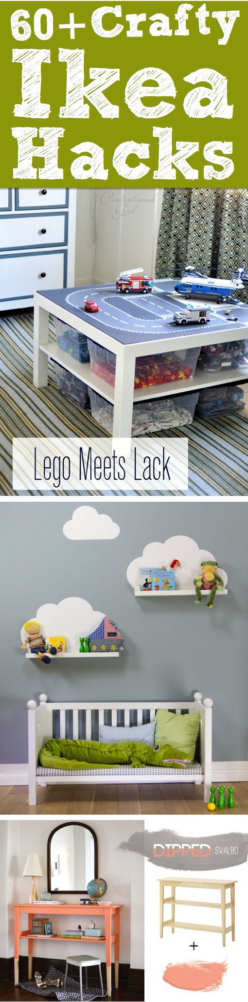 60++Crafty+Ikea+Hacks+To+Help+You+Save+Time+And+Money! Lego table ...