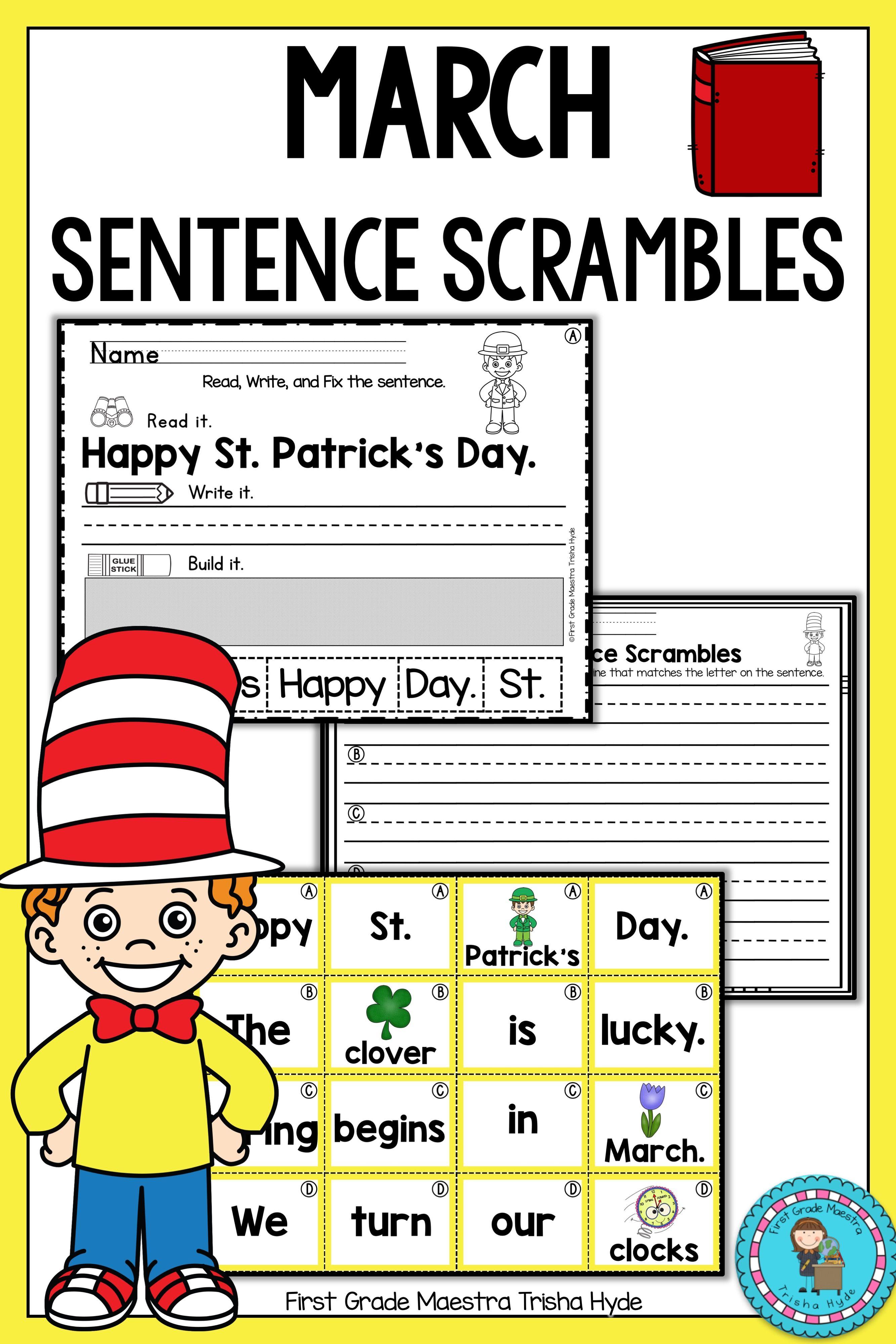 March Sentence Scrambles
