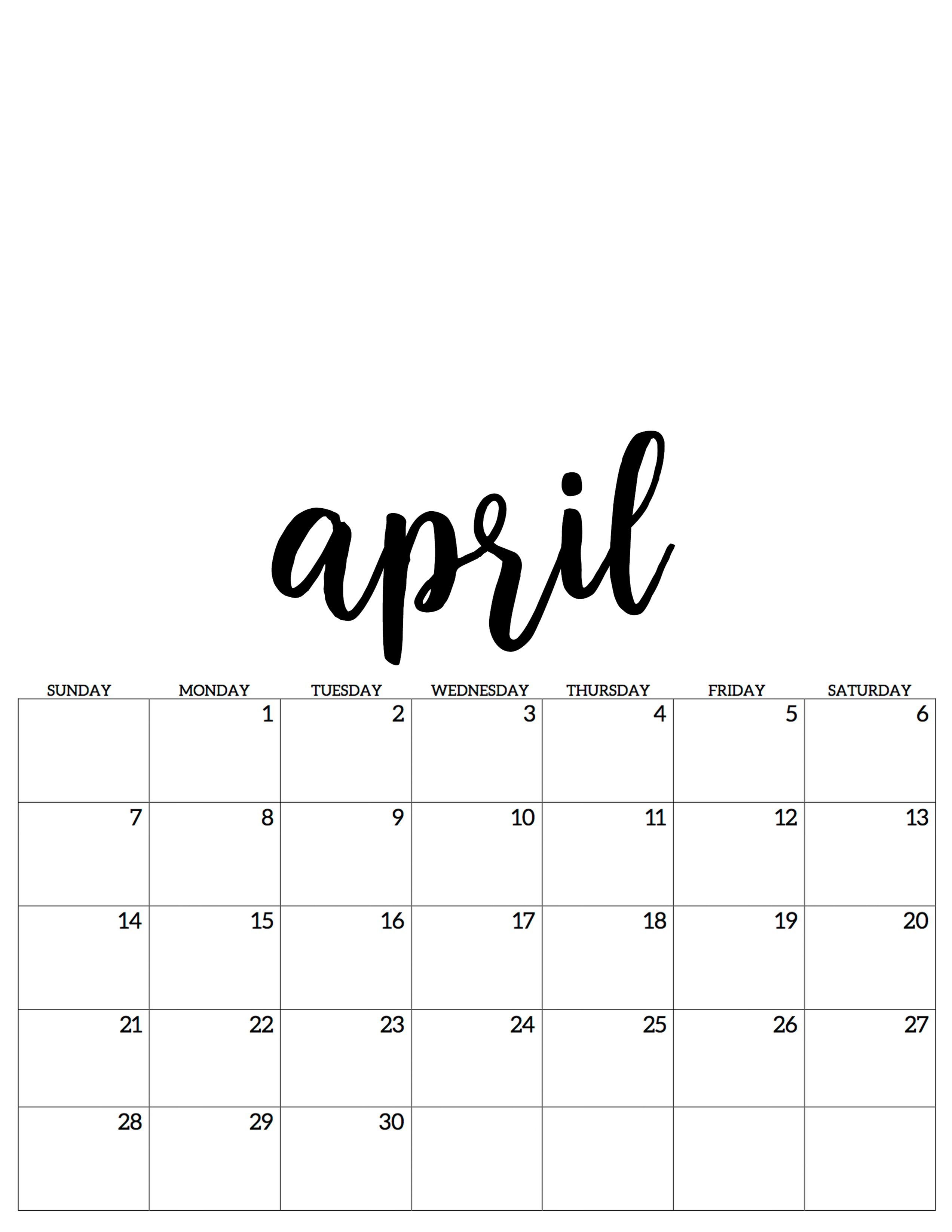 Good Images April 2020 Calendar Baby Ideas Calendar Print