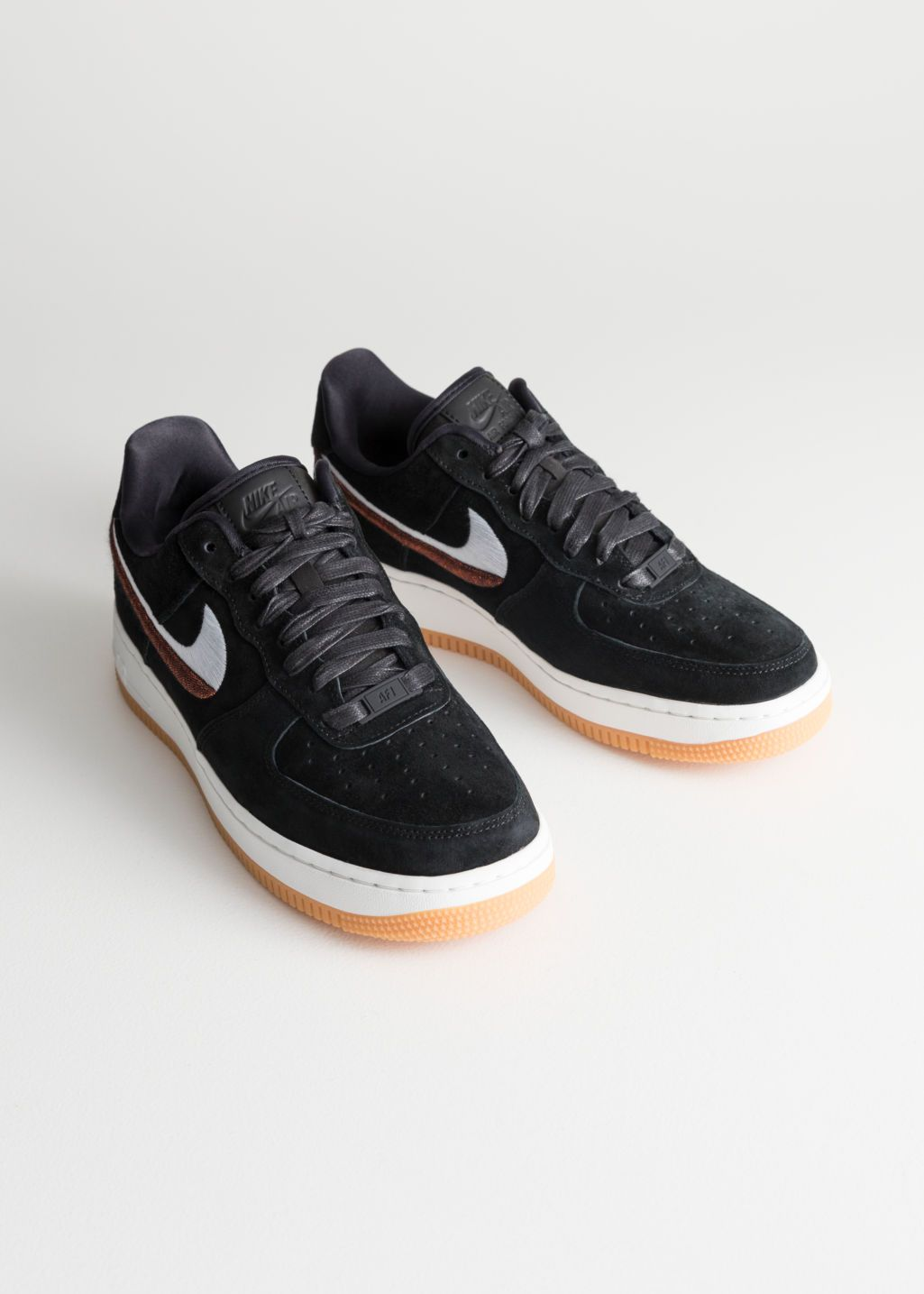wholesale dealer a0fdf eec3a Back image of Stories nike air force 1 07 lx in black