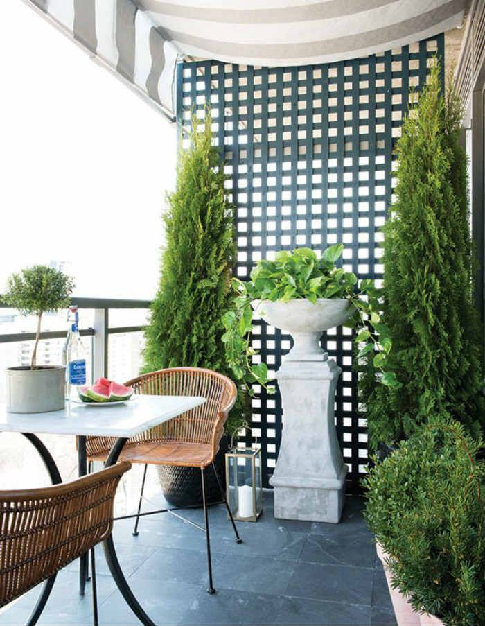 Balcony Garden Privacy Apartment Therapy