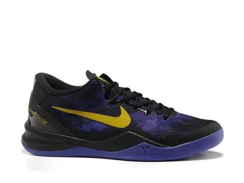 new concept c3dae a62c9 Nike Zoom Kobe 8 Lakers Away Black Purple Yellow
