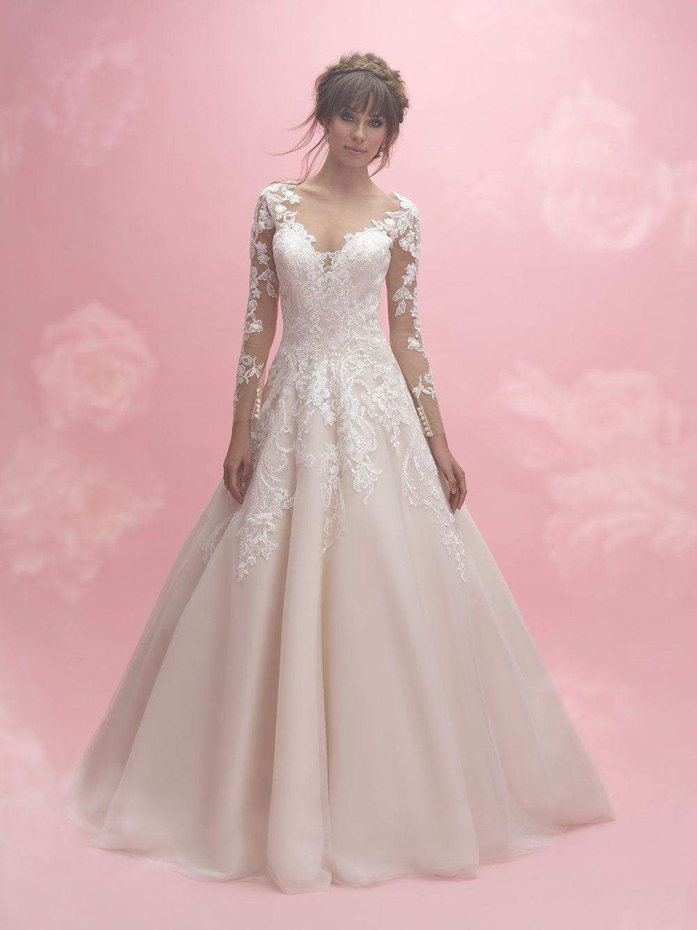 3029 | Allure Romance Plus Size Wedding Dress | All My Heart Bridal ...