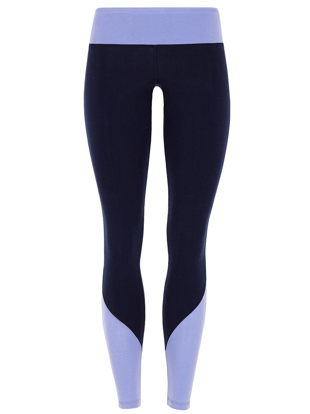 Colour Block Legging - navy