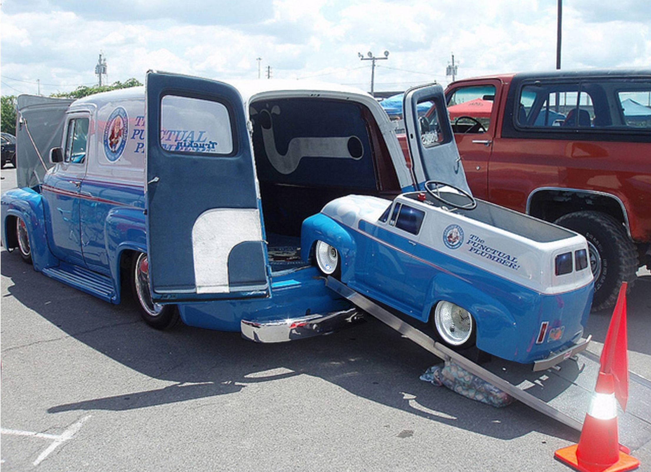 1956 Ford F100 Panel And Go Kart Classic Trucks And Cars