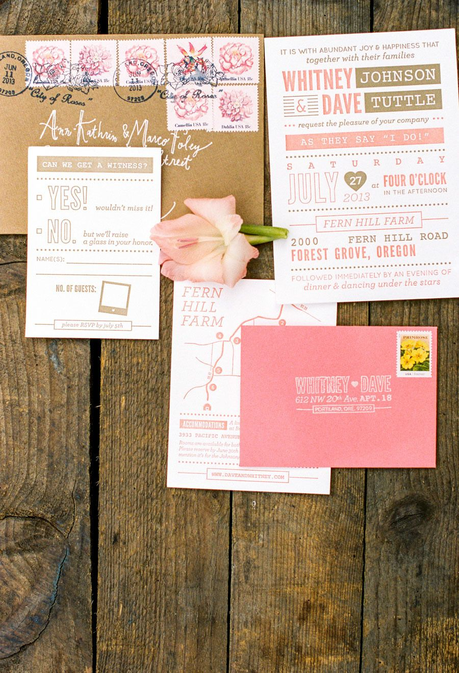 Colorful Farm Wedding in Portland Oregon Pink