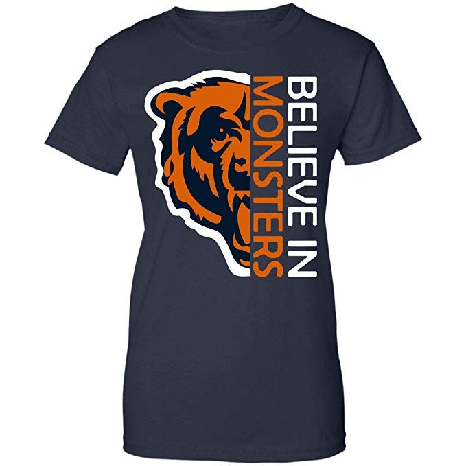 competitive price 10026 18a97 Believe in Monsters Chicago Bears Football Retro T Shirt ...
