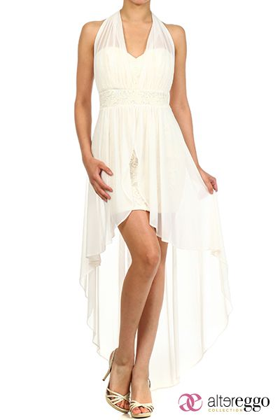 b4261e283  Vestido  graduaciones  verano  2014  blanco  white  boda  novia  party   fiesta  noche  cola  pato  asimetrico  dress  nigth  halter