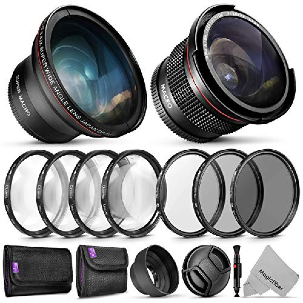 58mm Altura Photo Essential Accessory Kit for Canon EOS Rebel DSLR Bundle with Altura Photo Fisheye and Wide Angle Lenses #wideangle