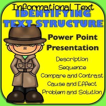 Informational Text Structure PowerPoint Presentation