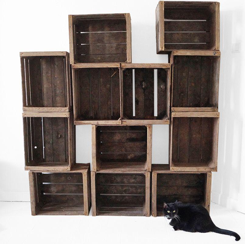apfelkistenregal m bel selbstgemacht pinterest einrichtung projekte und regal. Black Bedroom Furniture Sets. Home Design Ideas