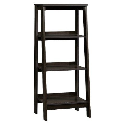 3 Shelf Trestle Bookcase Espresso