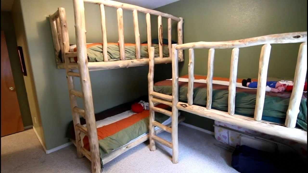 Homemade loft bed with desk  Astonishing Diy Triple Bunk Beds Images Design Inspiration