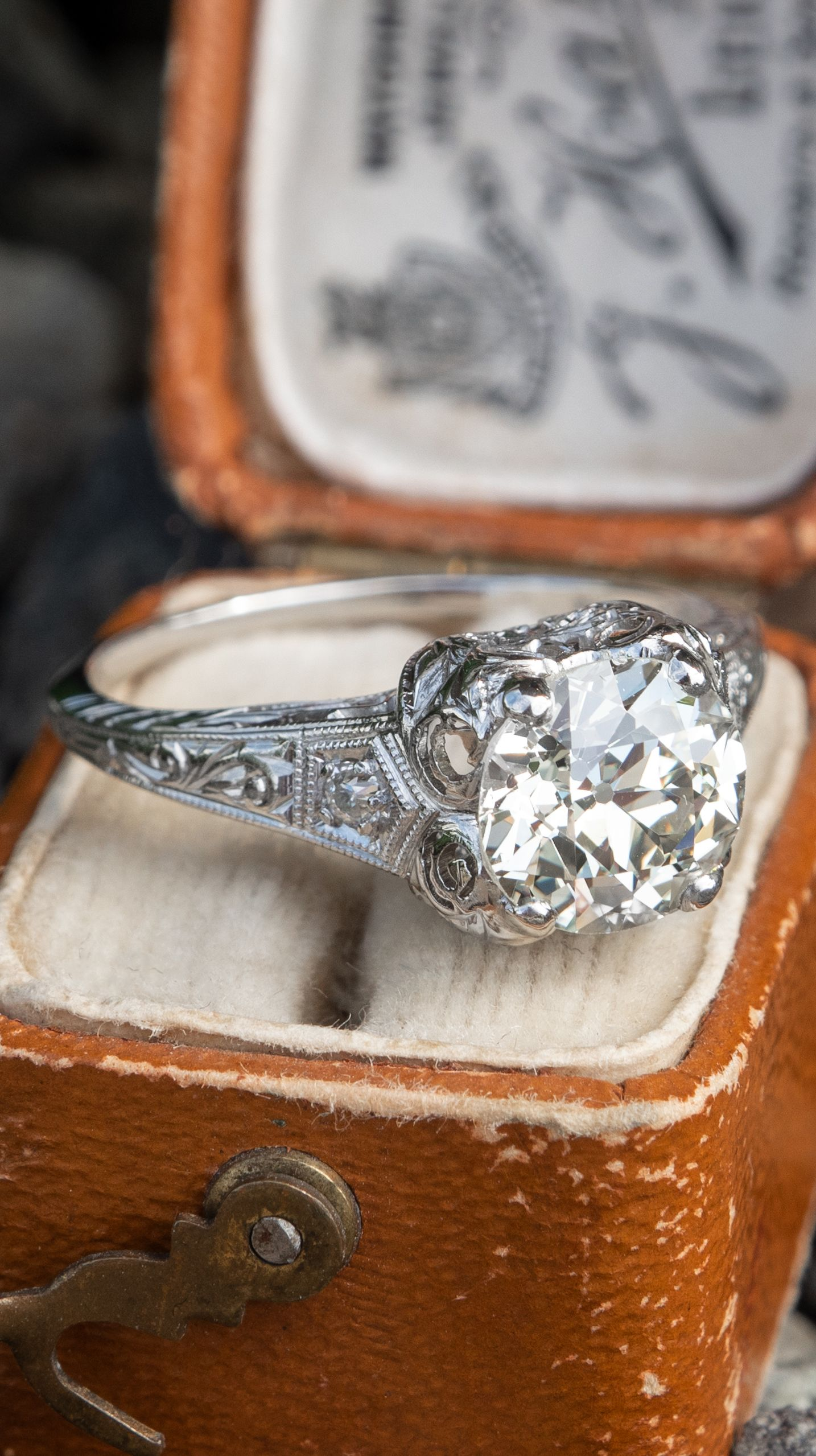 Edwardian Era 1910 S Antique Diamond Engagement Ring Platinum Antique Diamond Engagement Rings Antique Diamond Engagement Engagement Rings Platinum