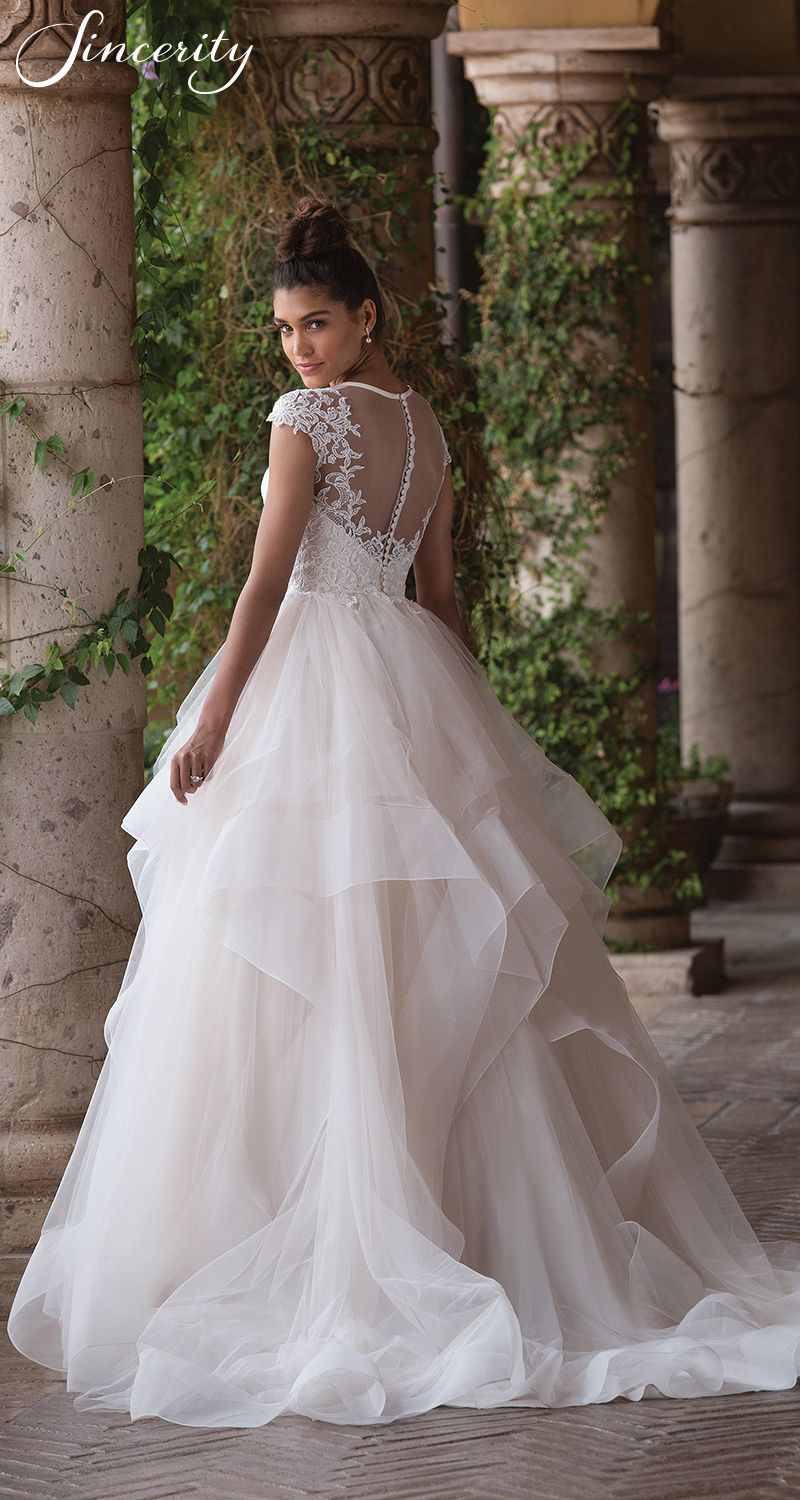 Sincerity wedding dress style horsehair beaded lace and