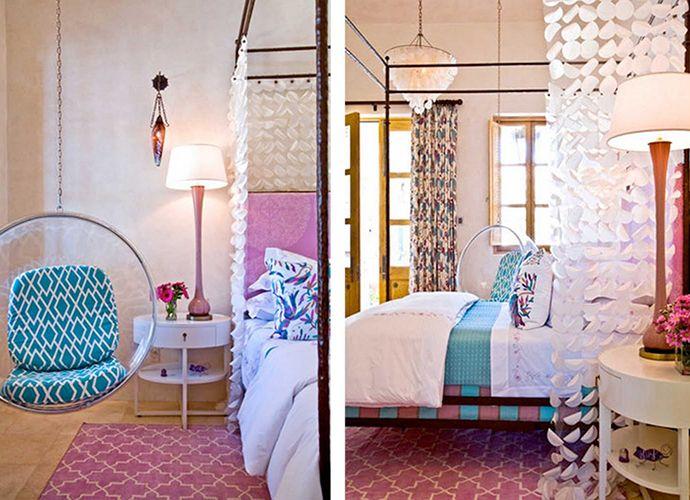 madeline weinrib pink brooke chenille metallic carpet child roomgirl roomcolorful interiorshot - Metallic Kids Room Interior