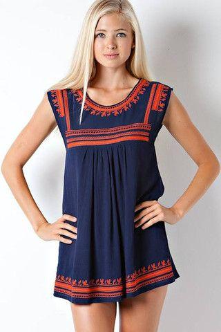 Indian Summer Tunic – Bleue