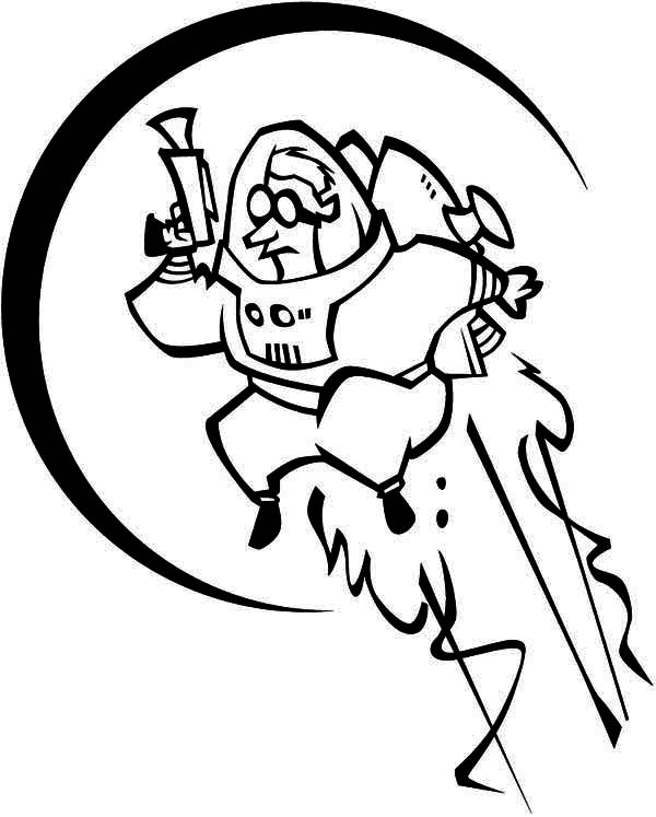 A Future Astronaut With Rocket Booster On His Back Coloring Page Download Print Online Coloring Pages Coloring Pages Online Coloring Pages Online Coloring
