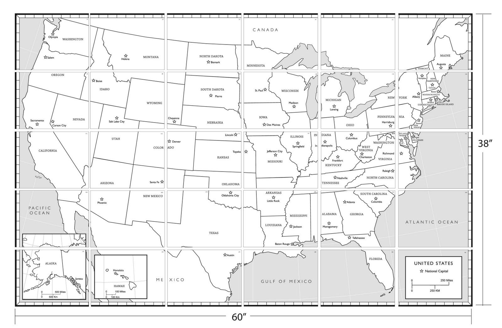 Coloring sheet united states map - United States Map