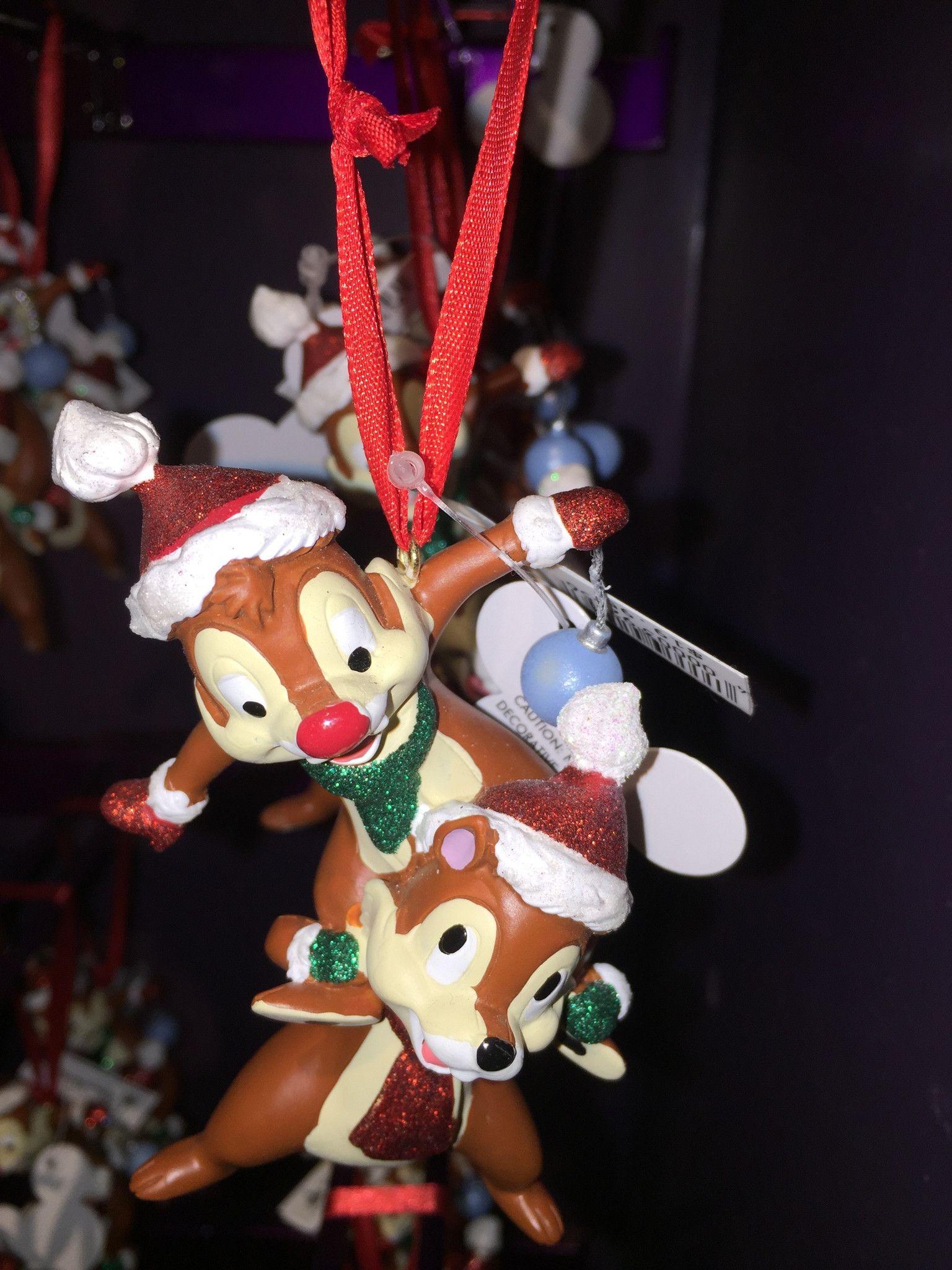 disney parks christmas huey dewey louie glitter resin ornament new with tag