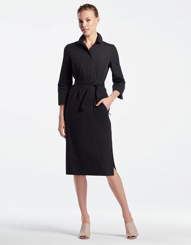 0d6710259dc03 Akris punto Fall 2017 Lookbook at Bergdorf Goodman – NAWO Cotton Shirt Dress,  Shirtdress,