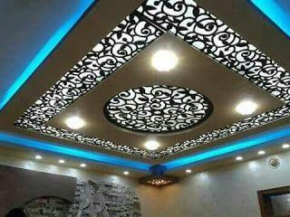 ديكورات جبس بورد مودرن مع ديكورات خشب السي ان سي Ceiling Design False Ceiling Design False Ceiling