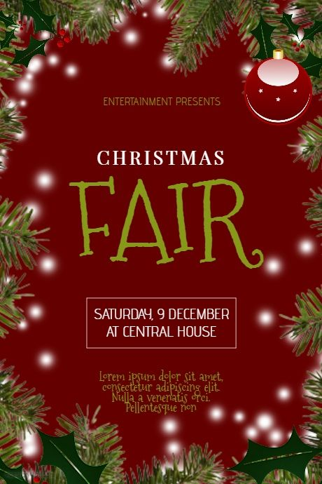 Christmas Fair Flyer Template Postermywall Christmas Posters And