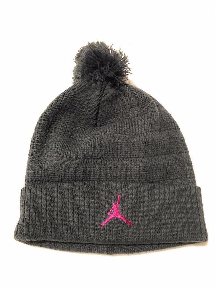 1457049d6d3 NIKE Kids Unisex Air Jordan Knit Pom Beanie Black   Pink Youth 8 - 20   fashion  clothing  shoes  accessories  kidsclothingshoesaccs   boysaccessories (ebay ...
