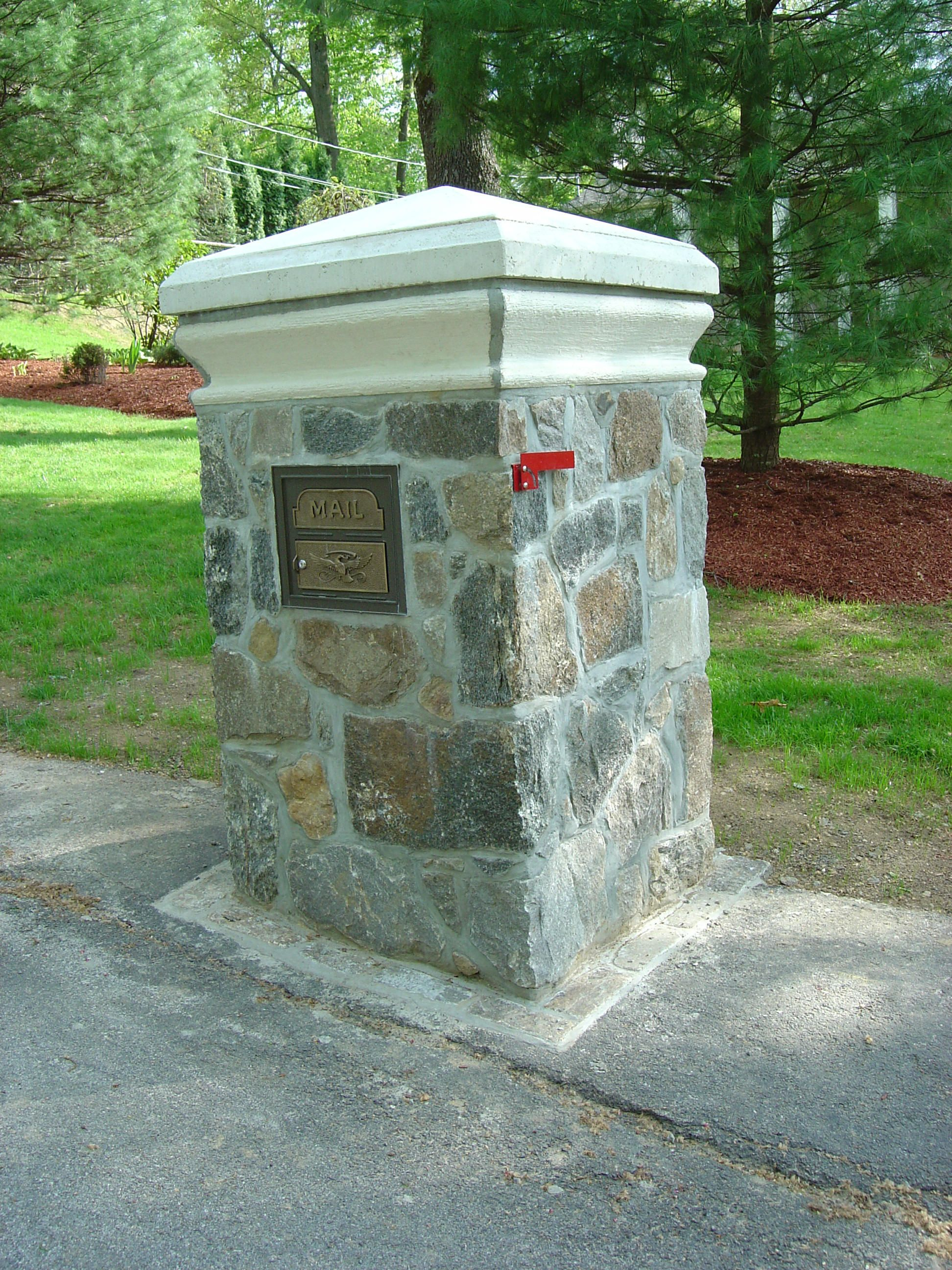 unique residential mailboxes. Custom Stone Mailbox With Concrete Top \u0026 CopingHowever I Think The Weight Unique Residential Mailboxes