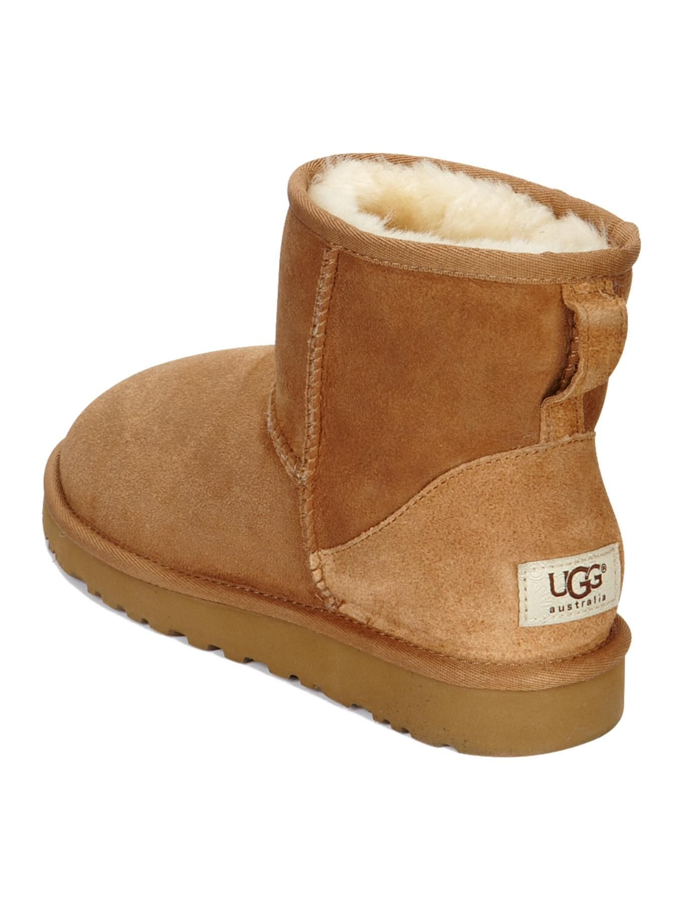 ugg classic mini ankle boots chestnut fashion designers ugg rh pinterest com